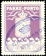 """70 Oere Paketpostmarke, Tiefrotviolett, Tadellos Gestempelt """"Grönlands Styrelse"""", Facit 290.-, Katalog: 13..."""