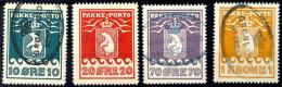 10 Öre Bis 1 Kr., Gez. L10 3/4, 4 Werte Kpl., Je Zeitgerechte Postalische Entwertung, Mi. 375,-, Katalog:...
