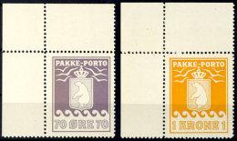70 Öre Und 1 Kr., Je Linke Obere Bogenecke Postfrisch, Mi. 130,-, Katalog: 13/14 **70 °re And 1 Kr.,...