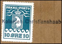 10 Öre Grünlichblau Auf Briefstück, Klarer L1 Kolonien Christianshaab, Katalog: 7B BS10 °re...