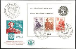 1960, Weltflüchtlingsjahr-Block Auf Schmuck-FDC Mit ESSt., Tadellos, Mi. 75,--, Katalog: Bl.26 FDC1960,...