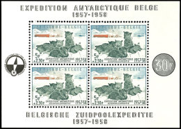 """Schlittenhunde""-Block Tadellos Postfrisch, Mi. 150,--, Katalog: Bl.25 **Sled Dogs Souvenir Sheet In Perfect..."