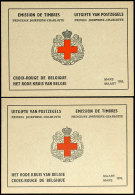 1953, Rotes Kreuz-Markenheftchen In Beiden Versionen, Tadellos Postfrisch, Mi. 290,--, Katalog: 963MH I,II...