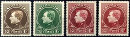 Kompletter Freimarkensatz 10-100 Fr. In Der 1. Type, Saubere Falzreste, Pracht, Mi. 650,--, Katalog: 262/65 I...
