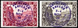 "1928, 5 C. Bis 10 F. ""Oval-Serie"" Mit Handstempel-Überdruck ""Antwerpen Anvers 3-4. Nov 28"", Tadellos..."