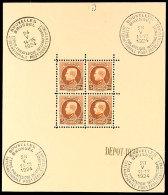 5 Fr. Rotbraun A. Sämisch, Internationale Briefmarkenausstellung Brüssel 1924, Postfrischer Kleinbogen,...
