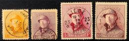 1 Fr. Bis 10 Fr. König Albert I. In Felduniform, Sauber Gestempelt, 5 Fr. Ein Bug, Sonst Tadellose Marken, Mi....