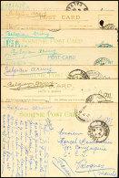 1915/1916, Kleine Korrespondenz Mit 7 Feldpost-Ansichtskarten Aus England An Einen Belgischen Soldaten In...