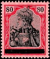 """80 Pf. Germania Sarre Mit Aufdruck Type III Tadellos Postfrisch, Gepr. Burger BPP Und Fotoattest Braun BPP: """"Die..."""