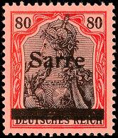 80 Pfg Germania Mit Aufdrucktype I, Postfrisches Luxus-Stück Ohne Jegliche Signaturen - Unsignierte Marken...