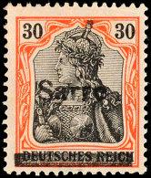 30 Pf. Type III, Auf Orangeweiß, Tadellos Ungebraucht, Gepr. Burger BPP, Katalog: 10yIII *30 Pf. Type...