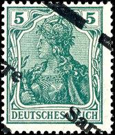 5 Pf. Germania Sarre Mit Diagonalem Aufdruck Tadellos Ungebraucht Mit Sauberem Erstfalz, Gepr. A. Burger BPP, Mi....