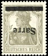 1920, Germania 2 Pf. Mit Kopf Stehendem Aufdruck, Tadellos Postfrisch, FA Burger BPP, Mi. 650,--...