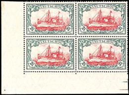 2 1/2 Dollar Kaiseryacht  Mit Wasserzeichen In Hervorragendem Eckrand- Viererblock (links Unten) In Einwandfreier...