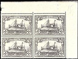 1 1/2 Dollar In Type IIB, Eckrandviererblock Rechts Oben Tadellos Postfrisch, Mi. 400.-, Katalog: 36IIBER-VBl...