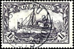 "1 1/2 Dollar Ohne Wasserzeichen Tadellos Gestempelt ""TSINGTAU 17/7 06"", Fotoattest Jäschke-Lantelme BPP:..."