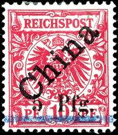 5 Pfg A. 10 Pfg Diagonaler Aufdruck Mit Der Guten Aufdrucktype 3, Ungebraucht Mit Originalgummi, Kabinett, Doppelt...