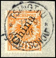 25 Pf. Gelblichorange A. Tadellosem Briefstück, Sign. Starauschek, Katalog: M5IIb BS25 Pf. Yellowish...