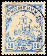 SANGMELIMA - Klar Auf 20 Pfg Kaiseryacht, Links Einige Zahnfehler, 120.-, Katalog: 10 OSANGMELIMA - Clear On 20...