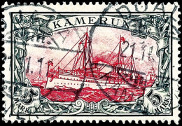 "5 Mark Kaiseryacht Einwandfrei Gestempelt DUALA KAMERUN 21.11.11. Fotoattestkopie Steuer BPP: ""qualitativ..."