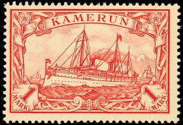 1 Mark Kaiseryachtrot Tadellos Ungebraucht, Gepr. Steuer BPP, Mi. 80.-, Katalog: 16 *1 Mark Kaiseryachtrot In...