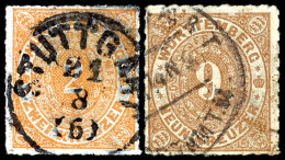 1 Bis 14 Kr, 10 Werte Tadellos Gestempelt (Mi.-Nrn. 36a+b, 37a+b, 38, 39a+b, 40a+b, 41a), Mi. 1157,--, Katalog:...