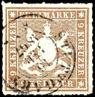 1, 6 Und 2 Mal 9 Kr Tadellos Gestempelt, Kabinett, Mi. 375,--, Katalog: 30a,32b,33a+b O1, 6 And 2 Time 9 Kr...