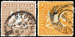 1 Bis 18 Kr Komplett Gestempelt, 18 Kr Winzige Schürfung Rückseitig, Sonst Kabinett, Mi. 1190,--,...