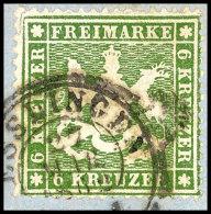 6 Kr Dünnes Papier Tadellos Auf Briefstück, Kabinett, Tiefst Gepr. Thoma BPP, Mi. 140,--, Katalog: 18ya...