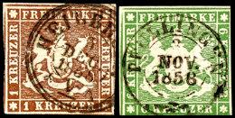Mi-Nrn. 6a, 7a(2), 7b, 8a+b, 9a Je Tadellos Gestempelt Pracht/Kabinett, Mi. 607,--, Katalog: 6/9 OMichel...