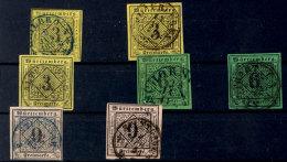 3 Kr Drei Mal Und 6 Und 9 Kr Je Zwei Mal Tadellos Gestempelt Kabinett/Luxus (2aI, 2aIVc, 2(a)V, 3aI, 3bIII, 4aI,...