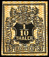 1/10 Thaler Tadellos Ungebraucht Mit Teilgummi, Mehrfach Signiert, Mi. 450,-- Für Ohne Gummi, Bzw. 900,--...