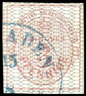 3 Pf/ 1/3 Sgr, Netzwerk Grau, Tadellos Gestempelt, Doppelt Tiefst Gepr. Berger BPP, Mi. 450,--, Katalog: 8b O3...