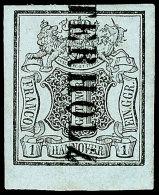 "1 Ggr. Auf Blaugrau. Allseits Breitrandig, Vom Bogenunterrand, Mit L1 ""OSTERHOLZ"", Katalog: 1 O1 Ggr. On..."