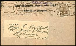 3 Pfg. Germania Kriegsdruck Als Portogerechte Einzelfrankatur Auf Drucksachen-Streifband (Reichsabgaben Befreit)...
