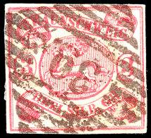 """""""39"""" - SESSEN, Zentrisch Klar Auf Vollrandiger 3 Sgr. Lebhaftkarmin, Kleine Helle Stelle, Katalog: 12Ab O39 -..."""