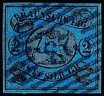 """""""23"""" - Hohegeiss, Klar Und Zentrisch In Blau Auf 2 Sgr. Schwarz Auf Blau, Allseits Vollrandig, Pracht, Katalog: 7a..."""