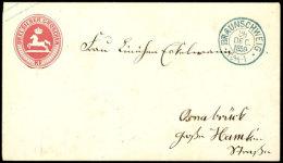 3 Sgr. Dunkelrosa Ganzsachenumschlag Im Format A, Gebraucht Mit Blauem DKr. BRAUNSCHWEIG 28.DEC.1859 Nach...