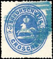 2 Gr. Ultramarin, Blau Gestempelt, Gepr. Pfenninger, Mi. 160,-, Katalog: 19 O2 Gr. Ultramarine, Blue Used,...