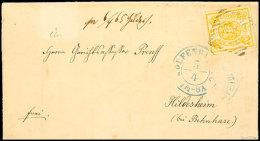1 Sgr. Gelbocker, Bogenförmig Durchstochen 16, Tadellose Marke Auf Brief Als EF Von Wolfenbüttel Nach...