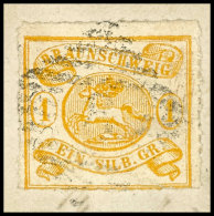 1 Sgr. Mit Durchstich 16 Tadellos Auf Briefstück, Kabinett, Mi. 180,--, Katalog: 14A BS1 Sgr. Rouletted 16...