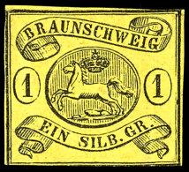 1 Sgr. Schwarz Auf Lebhaftgraugelb Ungebraucht Ohne Gummi, Mi. 250,--, Katalog: 11A OG1 Sgr. Black On Bright...