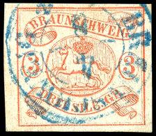 3 Sgr. Lebhaftorangerot Tadellos Gestempelt, Tiefst Gepr. Grobe, Mi. 350,--, Katalog: 3 O3 Sgr. Bright Orange...