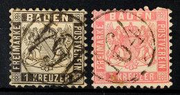 """""""164"""" (Einring) - BAHNPOST, Je Zentrisch Klar Auf 1 Kr. Schwarz (Mängel + Rep.) Und 3 Kr. Rosa (helle Stelle),..."""