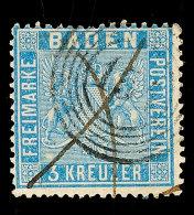 """""""154"""" - WALLDÜRN, Zusammen Mit Tintenkreuz Auf 3 Kr. Preußischblau, Mi. 120.- +, Katalog: 10a O154 -..."""