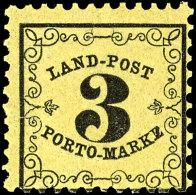 """3 Kr. Schwarz Auf Gelb, Plattenfehler """"MARKZ"""", Postfrisch, Kurzbefund Brettl BPP: """"echt Und Einwandfrei""""..."""