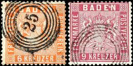 Mi-Nr. 9 (waagerechtes Paar), 10a+c, 11a+b Und 12 Tadellos Gestempelt, Pracht/Kabinett, 11b Und 12 Gepr. Flemming...