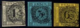 1 Kr., 6 Kr. Und 3 Kr. Tadellos Gestempelt, Pracht/Kabinett, Mi. 110,--, Katalog: 5,7,9 O1 Kr., 6 Kr. And 3 Kr....