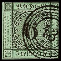 6 Kr Schwarz Auf Blaugrün Tadellos Gestempelt, Mi. 110.-, Katalog: 3a O6 Kr Black On Blue-green Neat...