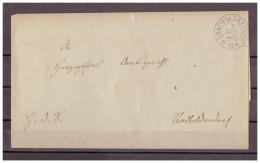 Braunschweig, Vorphilatelie Briefhülle K2 Stadtoldendorf 02.10.1867